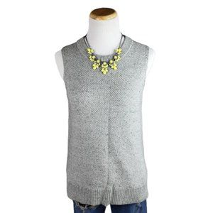 Ann Taylor Gray Knit Sleeveless Sweater